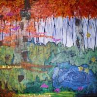HENRY-Christinepeinture-huile-sur-toile-et-collage-115x91cm